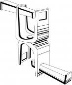 Colliers doubles pivotants pour liaison tubes 42 ou liaison 49 mm