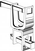 Colliers doubles pivotants pour liaison tubes 42 et 21 mm ou liaison 49 et 21 mm